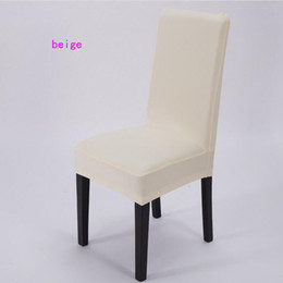 Wholesale White Stretch Chair Covers - High Stretch Spandex Chair Covers for Wedding Banquet Hotel Bar Home and Party Supplies Hotel Decoration Decor 11 Color White Available