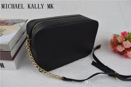 Wholesale Chain Small Cross Bag - 2017 fashion women famous MICHAEL KALLY MK handbag PU leather cross pattern square bags one shoulder messenger bag crossbody chain purse