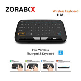 Wholesale Smart Tv Keyboards - H18 Mini 2.4G Wireless Keyboard New Arrivial With Touchpad Air Mouse For Windows Android Google Android TV Box Smart set Top Box