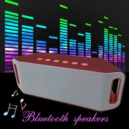 Wholesale Outdoor Horn - S204 S207 Wireless Bluetooth Speakers Outdoor 5W+5W Dual Boss Horn Hi-Fi Stereo Subwoofer Support TF Card -disk For Phone PC Ipad Speaker