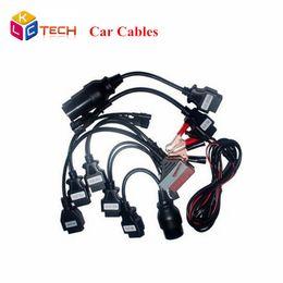 диагностический кабель для opel Скидка Оптовая продажа-10 шт. / лот низкая цена OBDII OBD2 полный комплект 8 автомобильные кабели Работа для TCS CDP Pro Plus автомобильный кабель диагностический инструмент сканирования интерфейс DHL