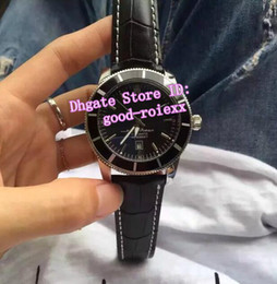 Wholesale Divers Men - 4 Style Men's Top Mechanical Watch Mens Auto Date Heritage Chronometer Leather Band Watches Men Sport Superocean Divers Wristwatches