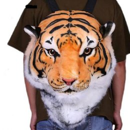 Wholesale Backpack Knapsack - Wholesale- 2017 new Cool HUGE Luxury Tiger Head White Tiger Head style Bag Knapsack Backpack tiger bags 2 sizes drop shipping