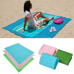 Wholesale Camping Rugs - Summer Beach Mat Sand Blanket Portable Outdoor Camping Picnic Blanket Mat Rug Sand Dirt Dust Disappear 200*200cm