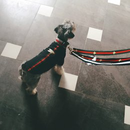 Wholesale Pet Vest Collar - Dog Collar Flashers Safety Collar Pet Leashes Fashion Teddy Schnauzer Adjustable Strap Vest Collar Car Seat Belts