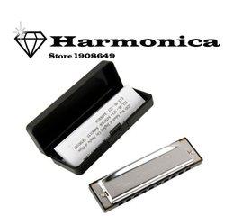 Wholesale Swan Harmonicas - Wholesale-D19 New Silver Swan Harmonica 10 Holes Key of C for Blues Rock Jazz Folk Harmonicas armonica g professionale