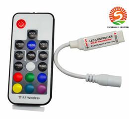 Wholesale Led Light Strip Mini Controller - DC5V-24V 12A 17key mini RF wireless RGB Controller Mini RF Wireless LED Remote Controller for RGB 5050 3528 LED Lights Strips