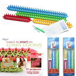 Wholesale Knitting Socks Loom - DIY Knitting Tool Plastic Long Knitting Looms Set Craft Kit for DIY Scarf Shawl Blanket Hat Socks Maker Knit Tool 4Size Set LA477