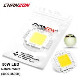 Wholesale Diy High Powered Led Bulb - Wholesale- 50W LED Light Bulb Lamp Natural White 4000K - 4500K 30-34V 1500mA 4500-5000LM High Power 50 W Watt Epistar Chip 50Watt DIY COB