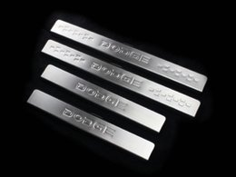 Wholesale Dodge Door Sill - Stainless steel door sill strip fit for 2013 dodge journey welcome pedal auto accessories 4pcs set drop shipping