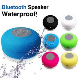 Wholesale Music Box Cars - Waterproof Bluetooth Speaker Mini Speakers Portable Subwoofer Shower Music Sucker Wireless Speaker Receiver Handsfree Car Mini Stereo