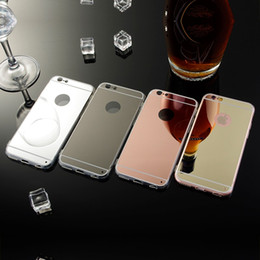 Wholesale Mirrors Covers - Glitter Bling Luxury Mirror Electroplating Soft Clear TPU Cases For iphone X 10 8 7 6S plus Samsung Galaxy Note8 S7 S8 Protective Back Cover