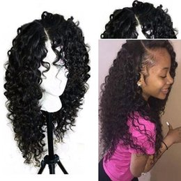 Wholesale Freetress Synthetic Hair - Freetress Front Lace Wigs Sintetica Lacefront Wigs With Baby Hair Kinky Curly Synthetic Lace Front Wigs For Black Women