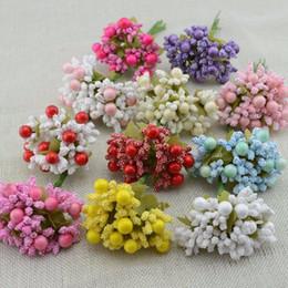 Wholesale Wrist Flower Garlands - Wholesale- 10DIY handmade garland flower buds foam material cute hair accessory bride wrist flower material accessories