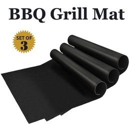 Wholesale Electric Barbecue Grills - silicone mat Barbecue Tool Accessories Baking Bake Mat Oven Liner Reusable Non-Stick BBQ Grill Mats 16