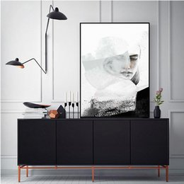 Wholesale Picture Sketches - Sketch girl home decoration painting fashion mural canvas printing