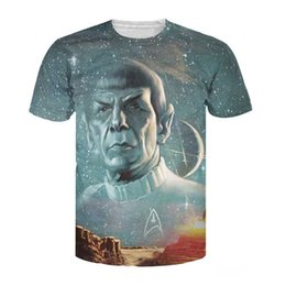 Wholesale Galaxy Stars Shirt - Wholesale- 2017 Summer Style tops Live Long and Prosper T-Shirt Star Trek Spock galaxy tee sexy t shirt for women men plus size