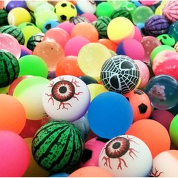 Wholesale Toy Kid Pictures - Diameter 30mm Rubber Bouncing Balls Funny Toy Bouncy Ball Picture Bouncing Ball for Kids Decompression Toys EC-946