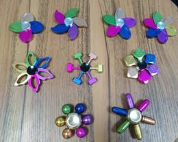 Wholesale Plum Toys - Decompression Toy Colorful EDC bright pearl plum fingertips gyro Star Trek Thirteen bright pearl fingertip Ferris wheel gyroscope by dhl
