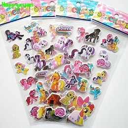 Wholesale Girl Playing Toys Cartoon - Happyxuan 50 sheets  lot Cartoon Cute Little Horse Kid Stickers Girls Children's Learning Early Toys For 3-6 Year Old