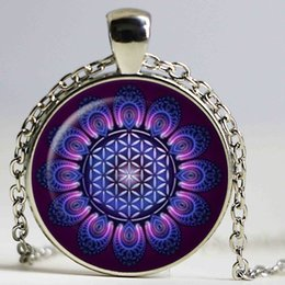 Colliers de yoga henné Vintage faits à la main bijoux indiens collier fleur mandala symbole om lotus bouddhisme bijoux ? partir de fabricateur