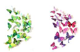 3d pvc geschwollene aufkleber Rabatt Party PVC 3D Schmetterling Wandaufkleber 12 Teile / satz Decals Home Poster für Kinderzimmer Anhaftend an Wanddekoration Abnehmbare mit Magnet