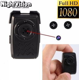 Wholesale Day Night Camera Recorder - Full HD Button Spy camera with Night Vision 1080P mini button camera hidden camcorder Video Recorder 365 days loop recording Covert mini DVR
