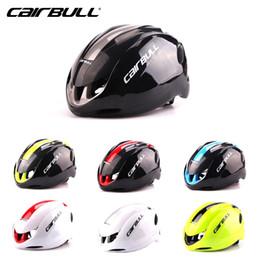 Wholesale Tt Helmets - CAIRBULL Aero Professional Road Bike Capacete Casco TT helmet Ultralight Bicycle Men Women Cycling MTB Helmet 55-59CM #154
