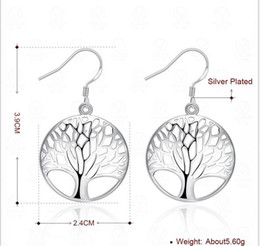 Wholesale United Life - Fashion creative earrings to the tree of life Europe and the United States silver earrings wholesale and foreign trade products