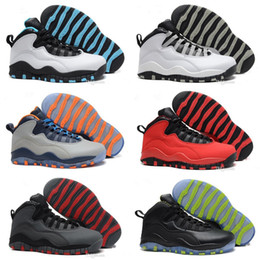 Wholesale Shipping Nyc - [With Box] Free Shipping Best Quality Air Retro 10 Men Basketball Shoes Paris NYC CHI Rio LA Hornets City Pack Vivid Pink 10s Sneaker 8-13