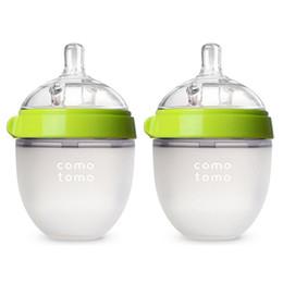 Wholesale Baby Bottle Wholesalers - 2017 BPA free Baby Bottle Silicone Baby Bottle 250ml Green display box package