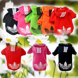 Wholesale Dog Clothes Summer Spring - Fashion Cotton Small Sweater Pet Sports Costumes Autumn Dog Clothes Fleece Jacket Hoodie Provide Products For Dogs XS-XXL
