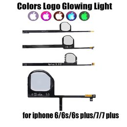 Wholesale Glowing Iphone Cable - Night Glow Cool Light Back LED Logo DIY Flash Flex Cable for iPhone 6 6s Plus