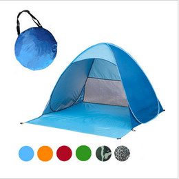 Wholesale Red Car Sun Shade - 60pcs Automatic Open Tent Family Tourist Fish Camping Anti-UV Fully Sun Shade Hiking Camping Family Tents For 2-3 Person