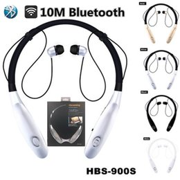 Wholesale Universal Items - 2017 New items design magnetic HBS900S Bluetooth Headset wireless motion last For 15 hours watch movie with the retail box