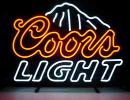 "Wholesale Coors Neon Beer Light - 17""x14"" Coors Light Beer Bar Neon Light Sign Pub Club Shop Home Man Cave Display"