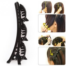 Wholesale Bump Comb Hair - Black HairPin Clips Hairpin Women Clips Barrette Comb Disk Bump Hair Styling Tools