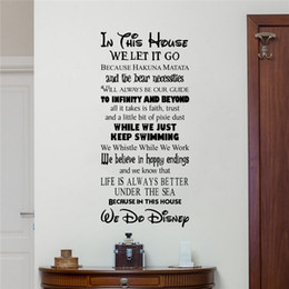 Wholesale green housing designs - Family Rules In This House We Let It Go Wall Decal For Living Room Art Mural Carved Decoration