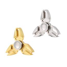 Wholesale Widget Toy - Premium Metal Zinc Alloy Tri Fidget Hand Finger Spinner Spin Triangle Widget Focus Toy