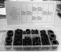 Wholesale Wholesale Rubber Grommets - 180pc Rubber Grommet Assortment Set Firewall Wiring Electrical Wire Gasket Kit