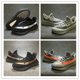 Wholesale Best New Casual Sneakers - 50 Boost V2 Best Running Shoes Men Women New Good Quality Cheap Sneakers White 350 boost Running Shoes Kanye West Running casual shoes