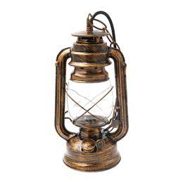 Wholesale Vintage Battery Light - Retro Vintage Lantern Kerosene Pendant Lights Hiking Camping Lamp Base Antique Ceiling Lights ON SALE Portable Lanterns