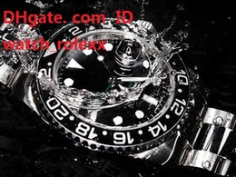 Wholesale Waterproof Black Ceramic Watches - Mens High Quality Luxury AAA Watch GMT 116710LN waterproof Black Ceramic Bezel Noob Best Edition V7 3186 Movement Automatic Wristwatches