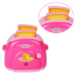 Wholesale Quality Kitchen Furniture - Wholesale- High Quality mini Toaster Classic Toys Pretend Play Toys Home Application Furniture Toy Kitchen for Baby Girls Boys Gift