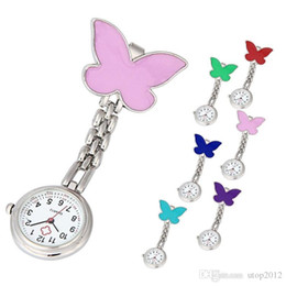 Wholesale Nurse Doctor Styles Watches - 100pcs Butterfly Style Nurse Watch Medical Doctor Watch Ladies Stainless Steel Free Shipping DHL Gift Watch
