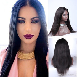 Wholesale Brazilian Stright - Glueless 150% Density In Full Lace Human Hair Wig Of Beads Is Full Of My Wig Stright Smooth Brazilian Hair 100% Wig Virgin Before Was Soft