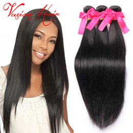 Wholesale Real Raw - Kinky Straight Raw Indian Hair Weave 3Pcs Lot Human Hair Weave Bulk Natural Black Double Weft Real Human Hair Extensions Bulk Wholesale