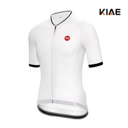 Wholesale Ride Top - Kiae Simple ventilation thin white riding line mountain Road vehicle riding short sleeve blouse summer men and women's money