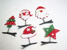 Wholesale Hair Clips Wholesalers Japan - Korean hair ornaments Japan and South Korea headdress clip clip clip Christmas antlers hair card hairpin Santa Claus