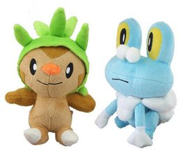 Wholesale Chespin Plush - New Poke Froakie Frogs Chespin Starter Grass Plush Doll Anime Brinquedos Baby Dolls Kids Toys Gift Brinquedos 18cm with Tag